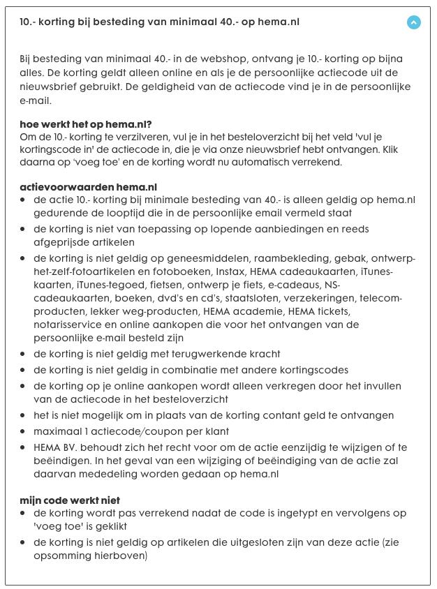 ad7c81e93f0 Kortingscode HEMA voor €10 korting op een minimale besteding van €40