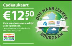 AH duurzame cadeaukaart t.w.v €12,50 Gratis