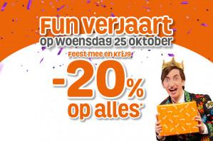 Fun Sale met 20% korting op alles