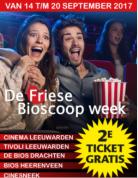 Tweede kaartje gratis vanaf 14 tot en met 20 september - Friese Bioscoop Week