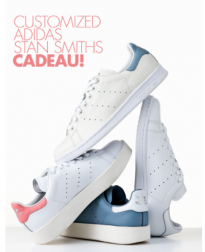 Abonnement voor 10x Vogue met customized adidas stan smith sneakers voor €69,50