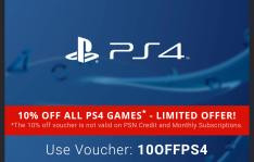10% korting op PlayStation games dmv code