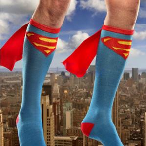 Hot unisex super hero superman sokken voor €1,98