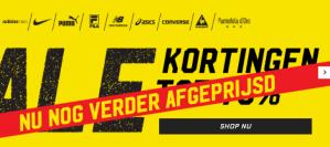 Sale bij Aktie sport 1+1 gratis -80% op kleding en 15% korting d.m.v. code