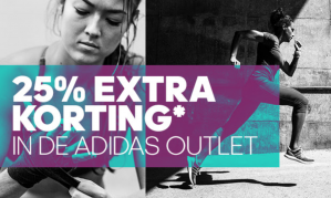 25% extra korting op de Adidas dames outlet