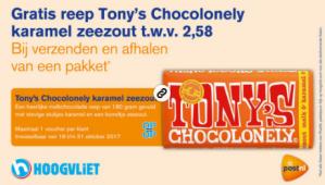 Tony's Chocolonely Karamel zeezout Gratis