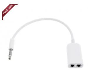 3.5MM Audio Earphones Splitter Adapter 1 to 2 Connector  voor €0,09 d.m.v. code