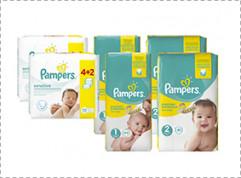Pampers starterskits met 50% korting + gratis verzending