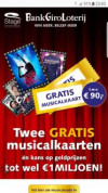 2 gratis musicalkaarten bij deelname aan Bankgiroloterij