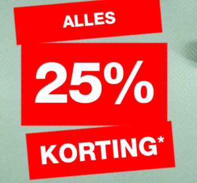 Praxis sale 25% korting op alles