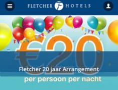 Fletcher hotel overnachting + ontbijt vanaf €20 incl. ontbijt p.p.