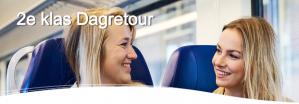 Goedkoop reizen dagretour 2e klas inclusief warme drank + snack  voor €18