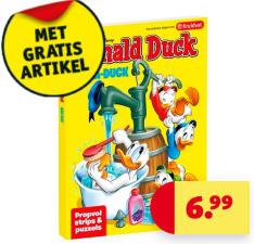 Bij 2 actieproducten met 50% korting Donald Duck Aqua-Duck Gratis