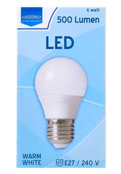 Eurodomest LED lamp 500 lumen voor €0,89