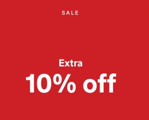 10% extra korting op de sale van 75% + gratis verzending