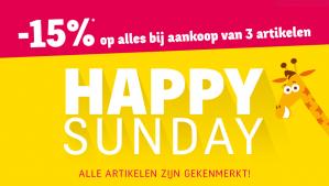 Happy Sunday sale bij ToysRus met 15% korting
