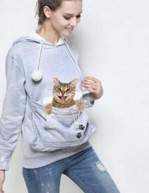 Hoodie met buidel voor kat/hondje voor €9,99