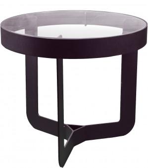 Spinder Design Douglas 2 Bijzettafel 41x40 - Zwart/Transparant Glas voor €31,28