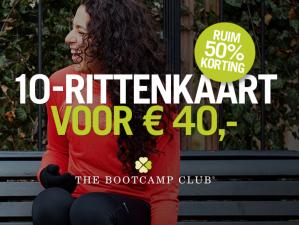 The Bootcamp Club 10-rittenkaart met 50% korting voor €40