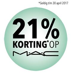 Douglas sale nu 21% korting op alle MAC producten