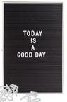 Letterbord - zwart met witte letters / cijfers / tekens - voor €6,99