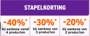 Stapelkorting op diverse producten bij De Bodyshop d.m.v. code