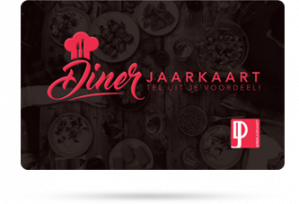 Diner Jaarkaart Gratis bij geselecteerde artikelen