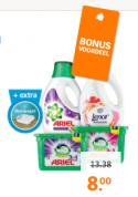 Diverse wasmiddelen of tabs van Ariel of Lenor 2 voor €8