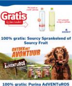 Gratis Sourcy sprankelend of Fruit en /of Purina AdVENTuROS d.m.v. cashback