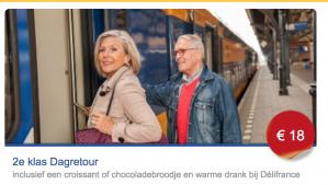 Dagretour incl crossaint en warme drank voor €18