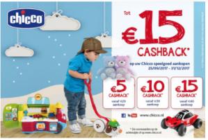 Tot €15 cashback op Chicco speelgoed