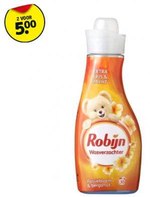 Robijn vloeibaar wasmiddel 2 flessen vanaf €5