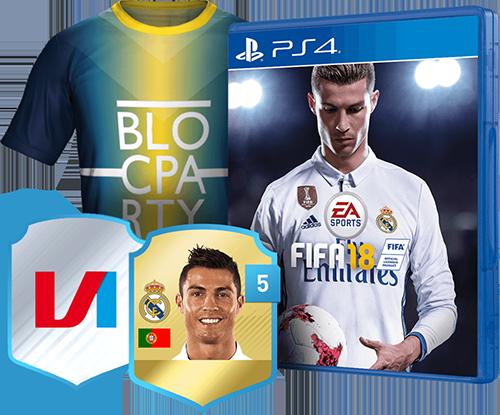 FIFA 18 Ronaldo editie  + half jaar abonnement Voetbal International voor €75