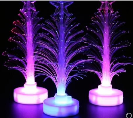 Multi-color glasvezel kerstboom voor €0,30