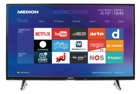 43'' UHD Smart tv MD 31298 voor €349