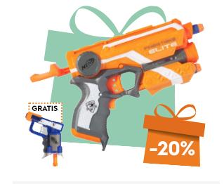 Gratis Nerf-pistool bij een bestelling vanaf €15 van Nerf spullen