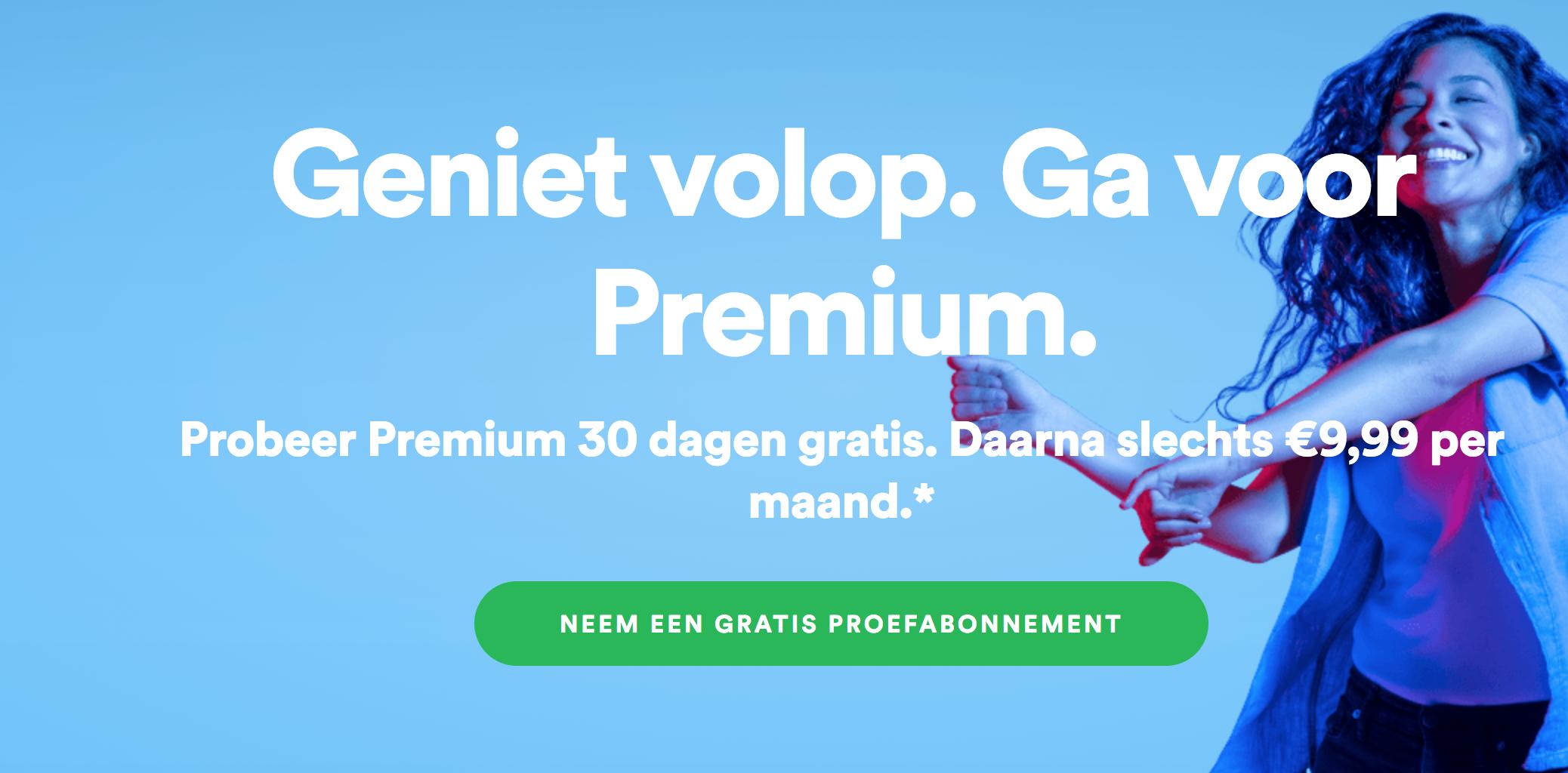 Gratis proefabonnement voor Spotify