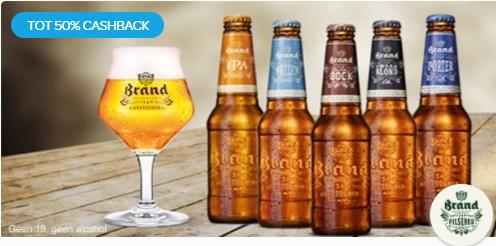 Probeer Brand Speciaalbier van €5,79-6,45* voor €2,90-3,23 dmv cashback