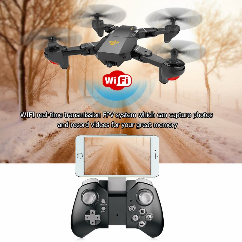 VISUO XS809W 2.4G Foldable RC Quadcopter Drone voor €31.91 d.m.v. code