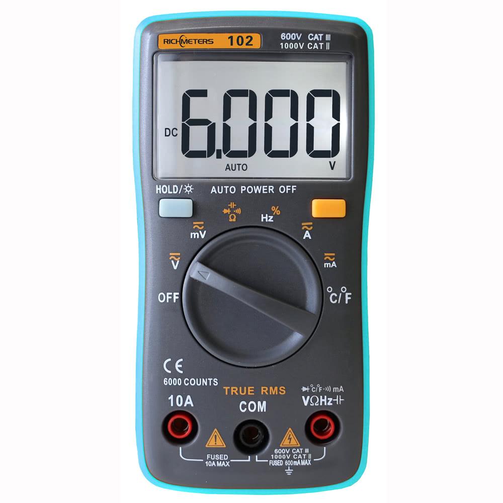 RICHMETERS RM102 True RMS 6000 Multifunctional LCD spanningsmeter voor €9,99