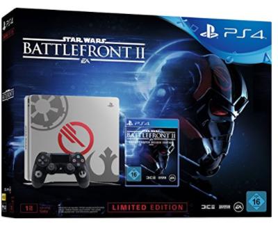 SONY PlayStation 4 (Slim) 1TB Star Wars Edition + Star Wars Battlefront II (Elite Trooper Deluxe Edition) voor €299