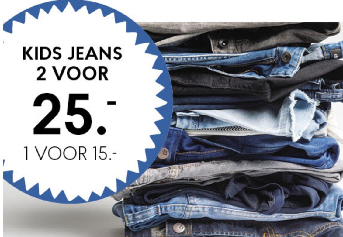 Kinderbroekenweek met 2 jeans voor €25