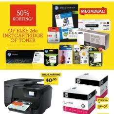 Staples sale met kortingen tot 50% op elke 2de inktcartridge of toner