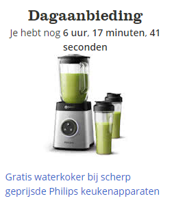 Gratis waterkoker bij Philips keukenapparaten