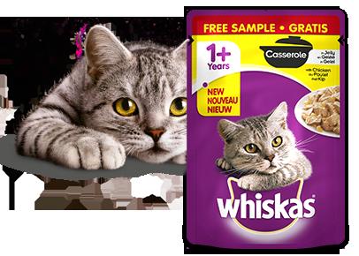 WHISKAS®Casserole proefverpakking Gratis