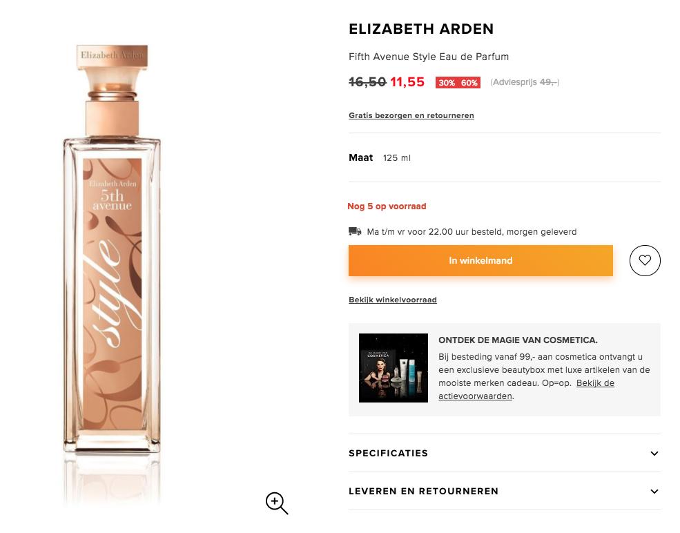 Elizabeth Arden Fifth Avenue Style for Women - 125 ml - Eau de parfum voor €11,55