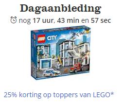 25% korting op LEGO