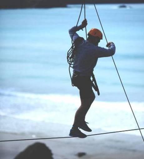 Newquay Stag Do Ideas - Cliff Tightwire