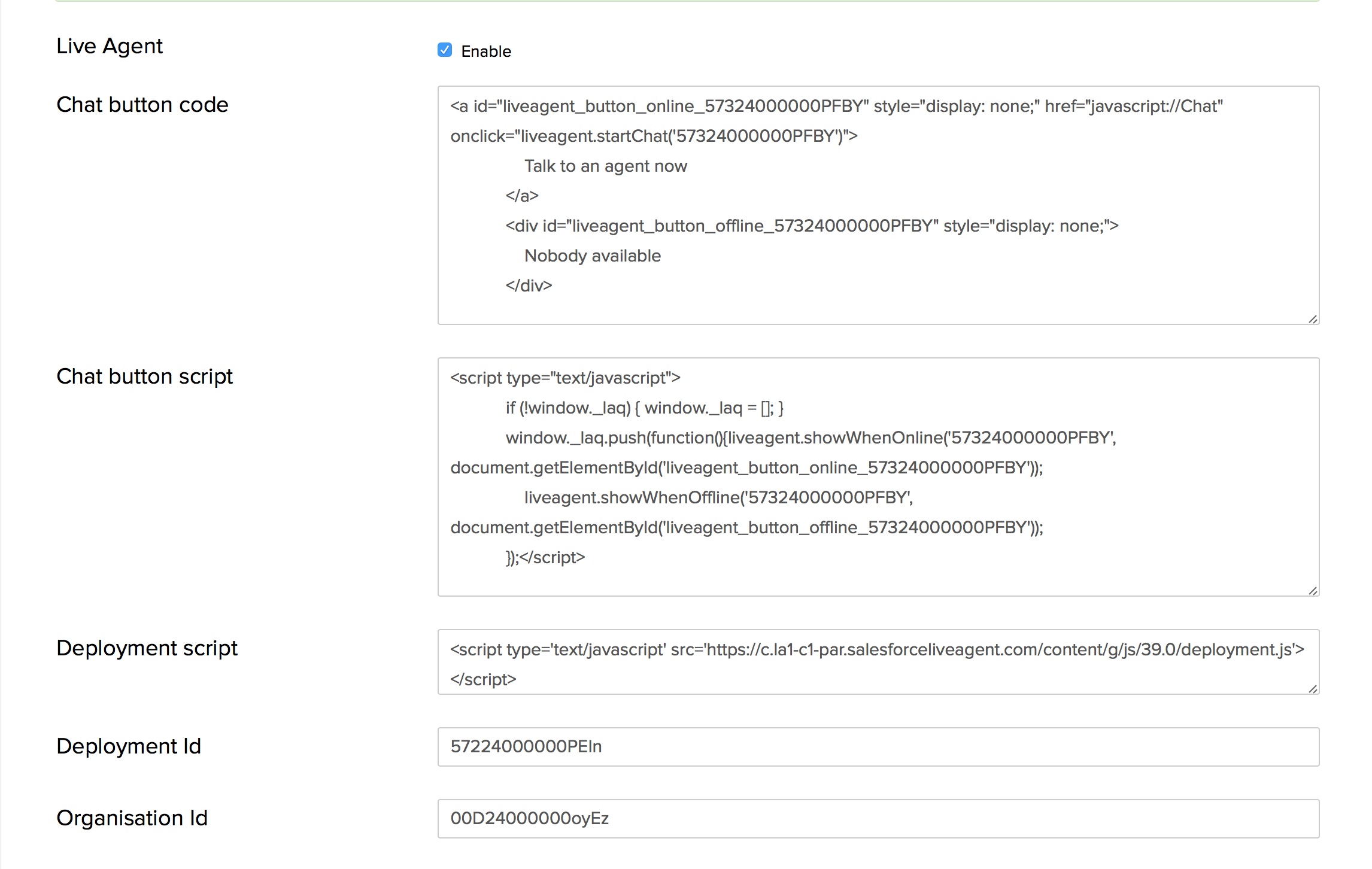 Support Hero - How to configure Salesforce Live Agent in my contact
