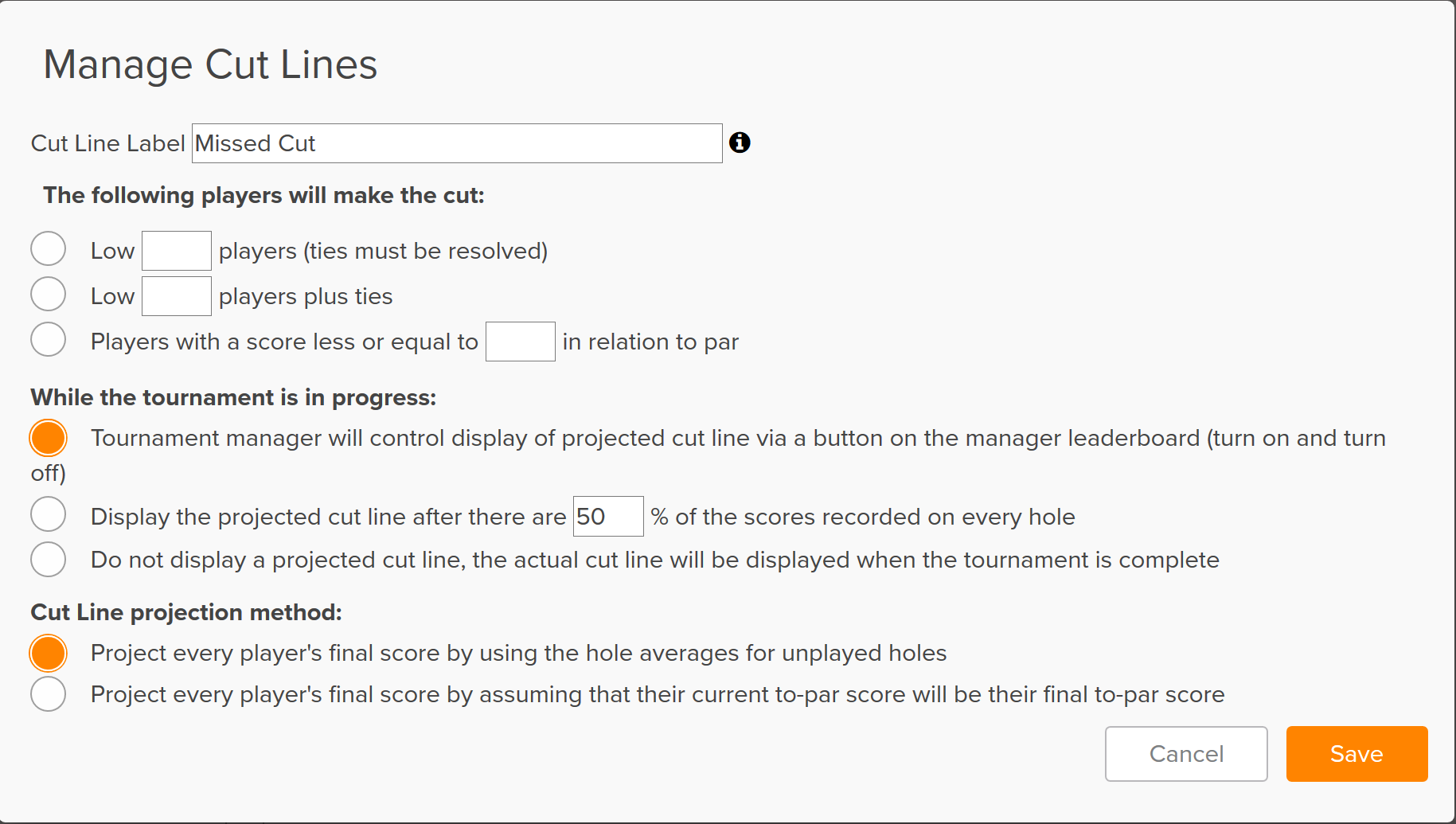 Make The Cut >> Golfgenius Cut Lists